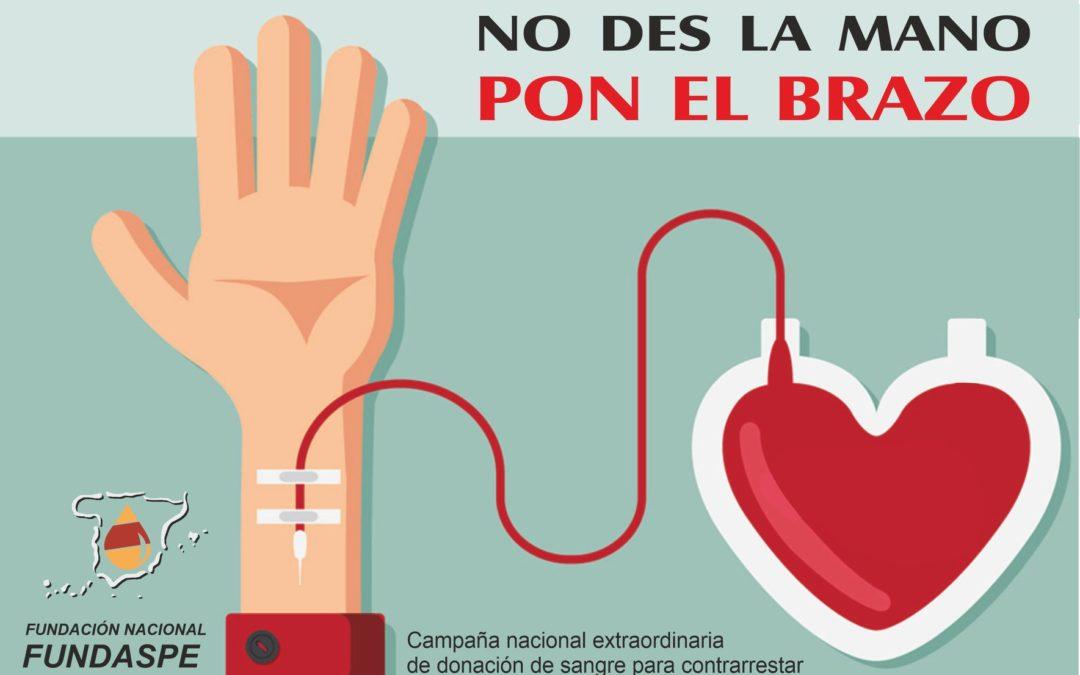 Colaboramos con la Fundación para la Donación Altruista de Sangre y Plasma en España (FUNDASPE)